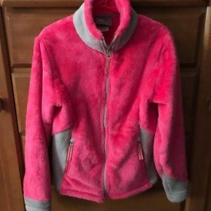 Champion fuzzy jacket; size 6x